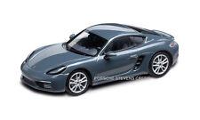 Porsche 718 Cayman 982 Diecast Model 1:43 Graphite Grey Metallic w/ Black INT
