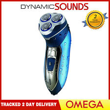 Omega 20905 Mens Electric Cordless Rechargeable Shaver Washable Floating Head