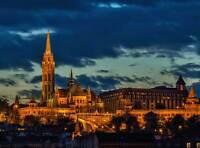 PHOTOGRAPH CITYSCAPE LANDMARK MATTHIAS CHURCH BUDAPEST POSTER ART PRINT BB12617A