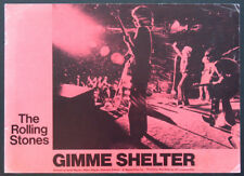 GIMME SHELTER JAGGER RICHARDS WYMAN ROLLING STONES ALTAMONT DOC 1971 LOBBY CARD