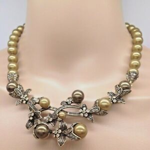 Heidi Daus Flower Garden Multi Color Crystal Pink Pearl Necklace