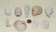 china dolls, ornament heads face parts, leg,  beach finds , england