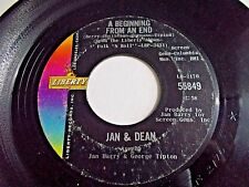 Jan & Dean A Beginning To An End / Folk City 45 1965 Liberty Vinyl Record