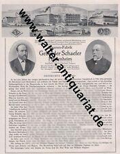 Zigarren Schaefer Heidenheim Schnaitheim Langenau Steinheim Große Reklame 1926