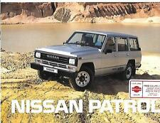 NISSAN PATROL HARDTOP AND ESTATE SALES BROCHURE DECEMBER 1987 FOR 1988