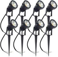 ALEDECO Outdoor Led Landscape Lights 12V 5W Low Voltage Waterproof Spotlight,8PK