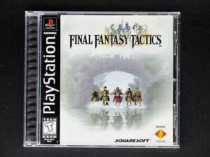 Final Fantasy Tactics (Sony PlayStation 1) Complete Black Label - Mint - PS1 PSX