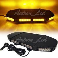 """Autron 20"""" LED 3 Watt Amber Warning Emergency Beacon Mini Roof Strobe Light Bar"""