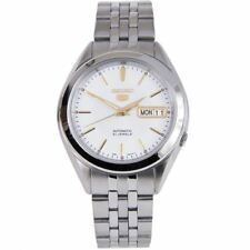Seiko 5 Automatic Male Analog White Dial Stainless Dress Watch SNKL17 SNKL17K1