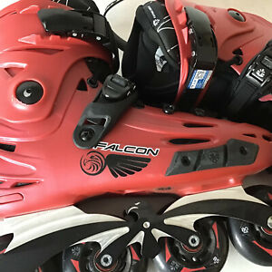 Flying Eagle F6S Falcon Skates Size 10.0 (44) Red --