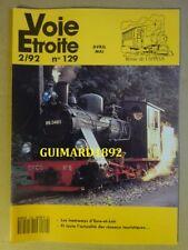 Voie étroite n°129 avril 1992 Les tramways d'Eure-et-Loir