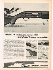 1969 GARCIA Beretta AL-2 Autoloader Shotgun Canadian Geese Vtg Print Ad