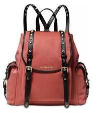 🌺🌹 Michael Kors Leila Nylon Medium Flap Backpack Rose/Gold