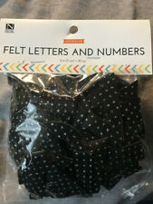 Nicole's Crafts Corner Adhesive Black Felt 2 in Numbers & Letters 80 Pcs Sparkly