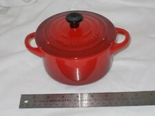 Red Le Creuset Stoneware Large 22 oz. Round Cocotte w/Lid