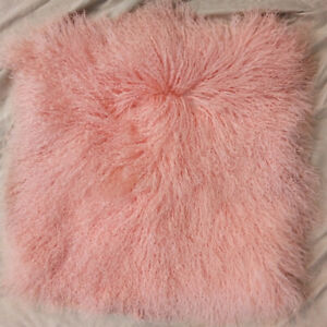 Genuine Curly Mongolian Fur Rug Throw Whole Hide Tibetan Lamb Plate Accessory XL