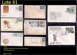 Chile lot of FDC