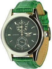 Minoir Uhren Modell Skylla grün Automatikuhr Regulateur Unisexuhr