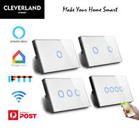 AU Standard Smart home Automation WIFI LED Light Switch Google Alexa glass panel