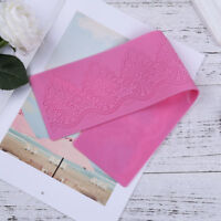 Pink Silicone Mold Sugar Cookies Fondant Mat Mould Lace Cake Decor Baking Tools
