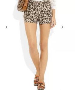 J Crew Women's Trouser short in metallic leopard jacquard Item AM954 size 16 $79