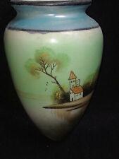 Japan Vase Church Scene Wall Pocket