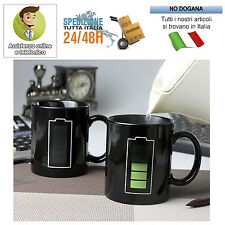 TAZZA MAGICA TERMOSENSIBILE CAMBIA COLORE TEMPERATURA BATTERY COLOR CHANGING MUG