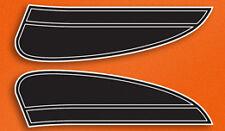 1974 Honda CB125 S1 - Fuel Gas Tank Stripe Decals Decal Set - Candy Topaz ORANGE