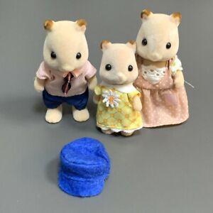 3x Sylvanian Families Goldbacke Hamster Family Dad & Mom Baby Hamster Kids Toy