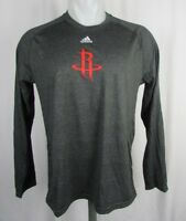 Houston Rockets NBA Men's adidas Climalite Long Sleeve Shooting Shirt NBA S M L