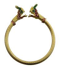 Bracelet doré Naga Phaya Nak Serpent Amulette Thai Pouvoir Richesse Protection