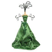 Mannequin Jewellery Display Stand Necklace Holder Lady Figure Dress Gift Green