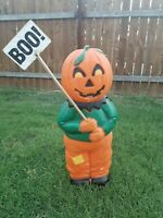 Vtg Union Don Featerstone Pumpkin Head Scarecrow Lighted Halloween Blow Mold 31""