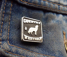 Country and Western Wolf Pewter Pin Badge
