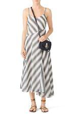 Theory Womens Spaghetti Day Dress B Sz 00 Ivory/black