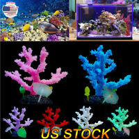 US Aquarium Fish Tank Silicone Sea Anemone Artificial Coral Ornament  Background