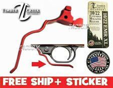 Timber Creek Outdoors RUGER 10/22 RED XL EXTENDED MAGAZINE RELEASE LEVER EMR
