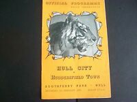HULL CITY V HUDDERSFIELD TOWN   LEAGUE     1952/3