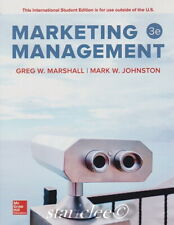 NEW 3 Days to US Marketing Management 3E Greg Marshall Mark Johnston 3rd Edition