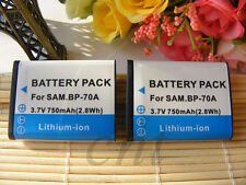 TWO(2) Digital Camera Battery BP-70A BP70A for Samsung Digimax ST30 ST60 ST61