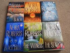 Nora Roberts x 6 Black Hills,Witness,Search,Whiskey Beach,Noon,Northern -HC-DJ
