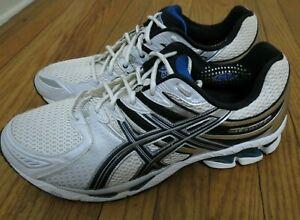 🔥 VTG Asics Mens Gel Kayano 16 White Silver Running Shoes Size 14 2E Wide EE