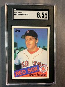 1985 Topps #181 Roger Clemens RC Graded SGC 8.5 NMM+ Red Sox