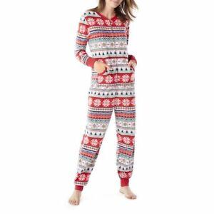 Family PJ Sleep Merry Everything Women's Union Suit Pajama XL