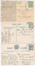 * 1904/12 3 WESTMORLAND SKELETON POSTMARKS APPLEBY AMBLESIDE & GRASMERE ON PPCs