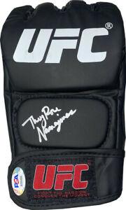 Thug Rose Namajunas signed UFC Left Fight Glove- PSA
