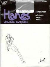 Hanes 885 Ultra Sheer Pantyhose Toe To Waist Sandalfoot Size: B Brushed Silver