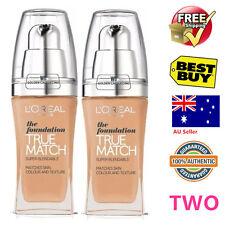 TWO LOREAL True Match Liquid Foundation L'Oreal Truematch R7C7 ambre rosé