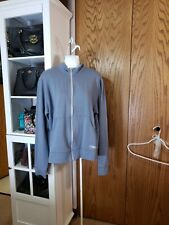 Zumba Gray Zip Front Athletic Warm-Up Track Jacket Hoodie Seatshirt XXL