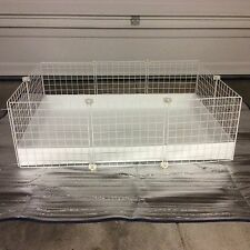 """Guinea Pig Cage 2x3 -14"""" White wire panels + White Corrugated liner CC"""